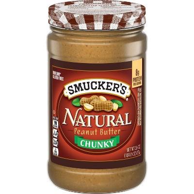Smucker's Natural Crunchy Stir Peanut Butter - 26oz