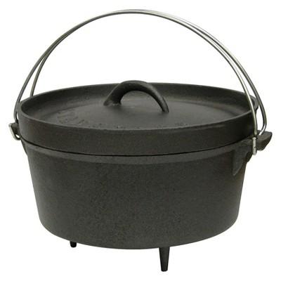 Stansport Cast Iron Dutch Oven with Legs - Black (4 Quart)
