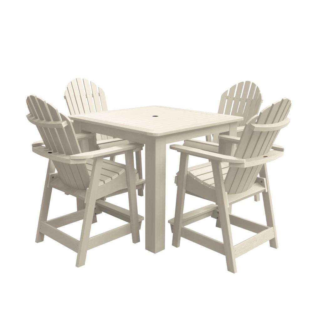 Hamilton 5pc Square Counter Dining Set Whitewash - Highwood, Off White