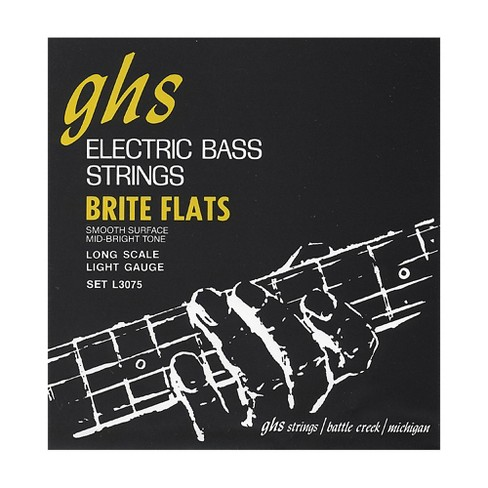 GHS L3075 Brite Flats Flatwound Electric Bass Strings - image 1 of 1