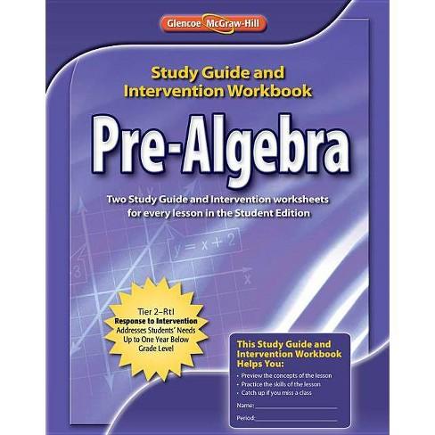 Pre-Algebra, Study Guide & Intervention Workbook - (Merrill Pre-Algebra) (Paperback) - image 1 of 1