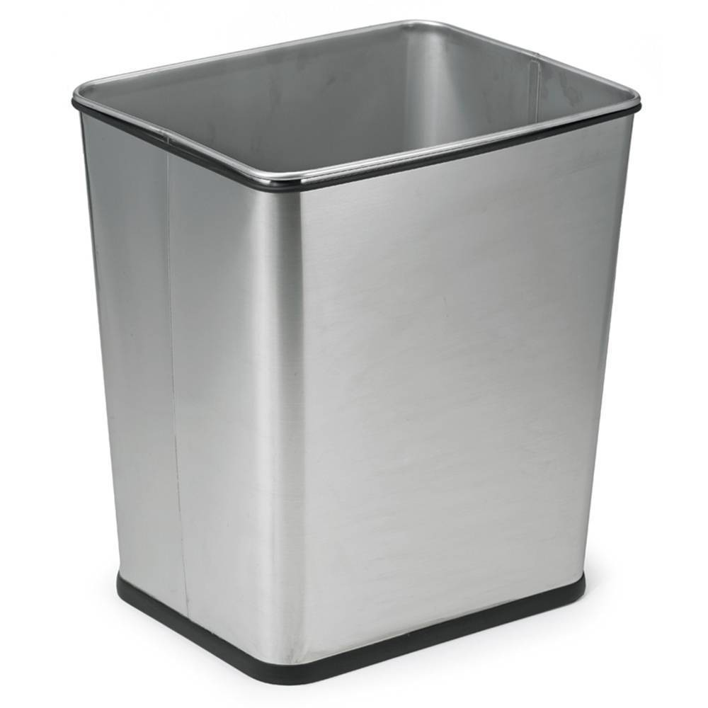 Image of 7gal Waste Can Stainless Steel - Polder, Silver