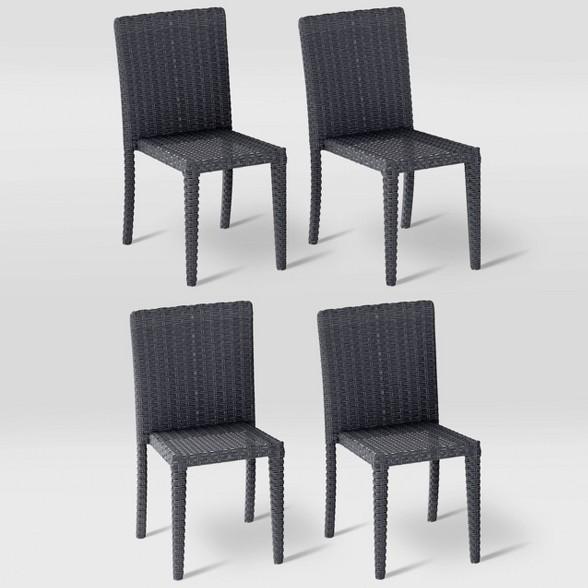 Swell Patio Dining Chairs Set Of 4 Corliving Spiritservingveterans Wood Chair Design Ideas Spiritservingveteransorg