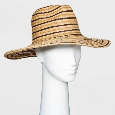 Women's Straw Panama Hat - Universal Thread™ - Natural Brown