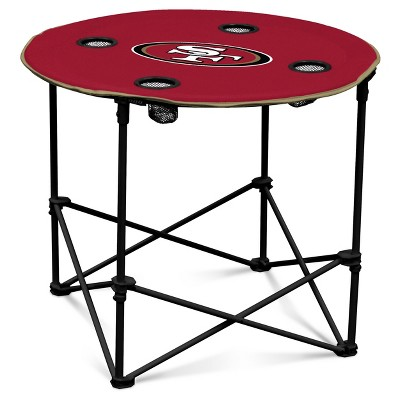 NFL Logo Brands Portable Round Table