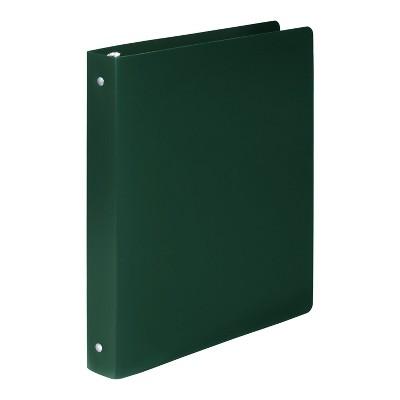 "ACCOHIDE Poly Round Ring Binder 35-pt. Cover 1"" Cap Dark Green 39716"