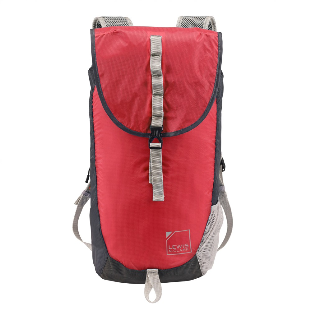 Image of Lewis N. Clark ElectroLight Day Backpack - RFID Protected (Red/Charcoal), Size: Small, Red Sign