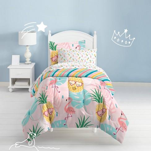 Full Pineapple Mini Bed In A Bag, Pineapple Bedding Set