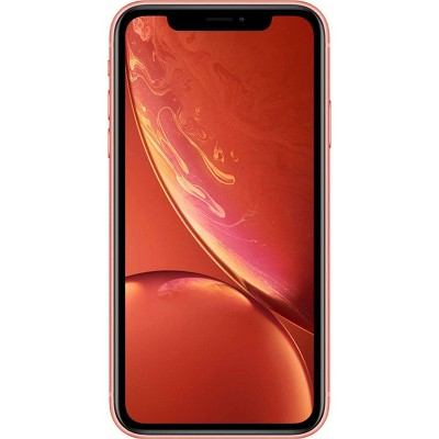 Apple iPhone Unlocked XR (256GB) GSM/CDMA Phone - Coral