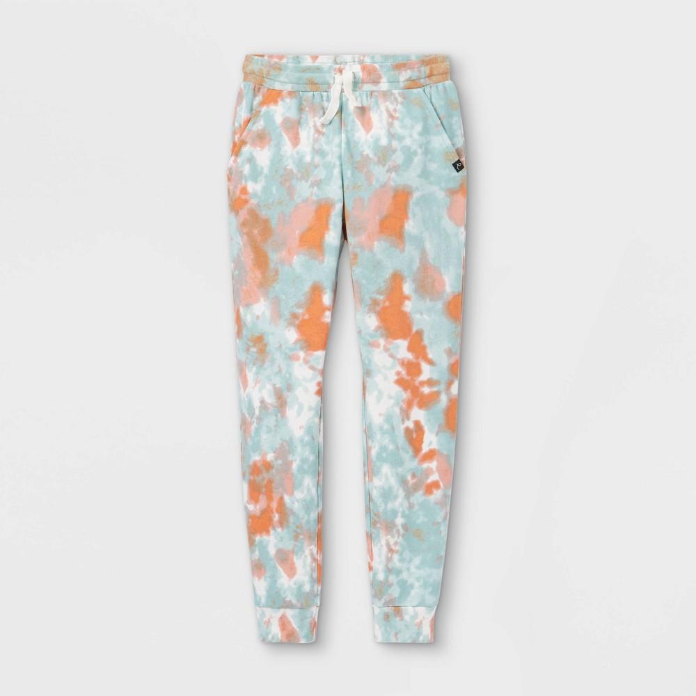 Boys 39 Tie Dye Jogger Pants Art Class 8482 Teal Orange L