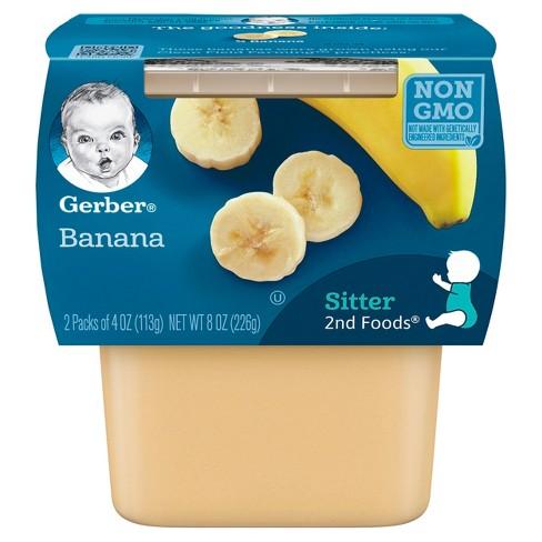 Gerber 2nd Foods Banana Baby Food - 4oz (2ct) - image 1 of 4