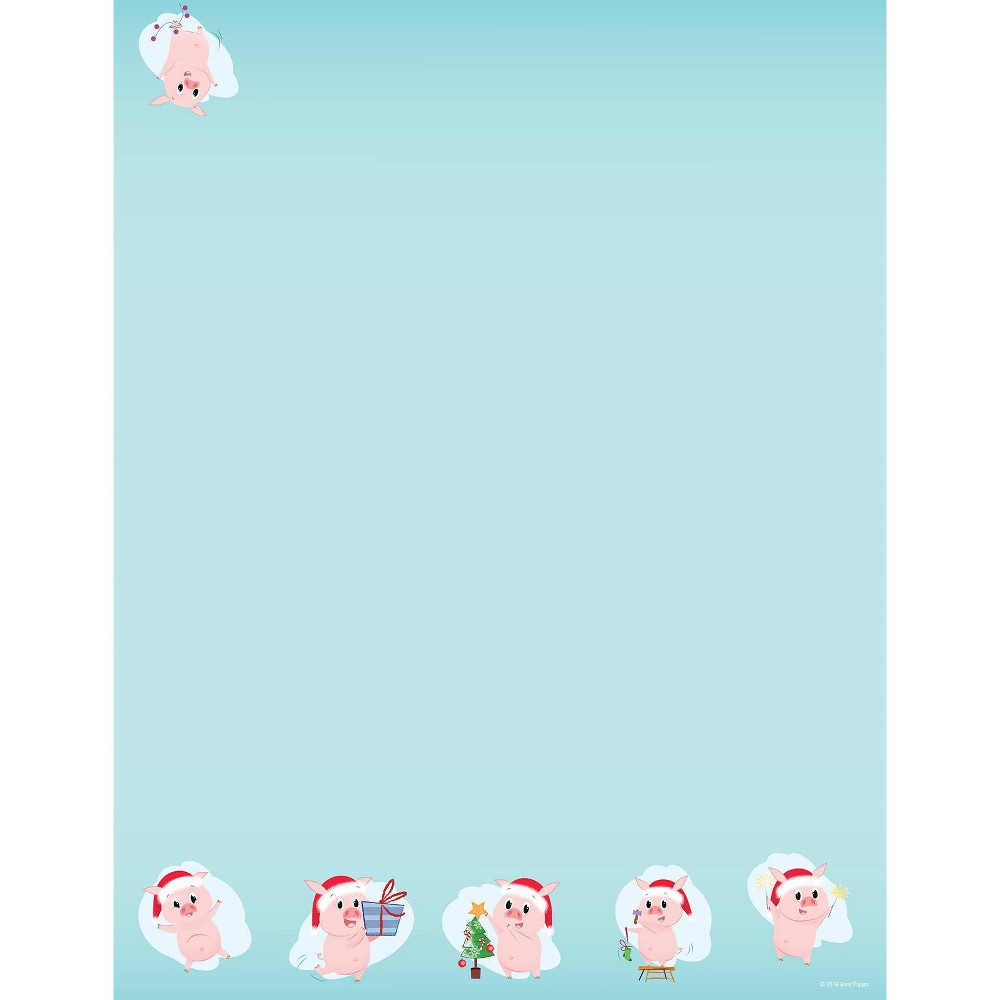 Image of 80ct Merry Pig Letterhead