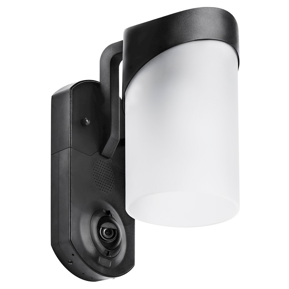 Image of Contemporary Smart Security Led Outdoor Wall Light Black - Maximus