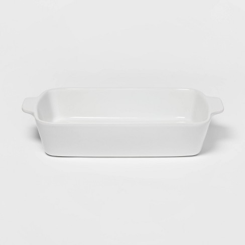 3qt Rectangular Baking Dish White - Threshold™ - image 1 of 1
