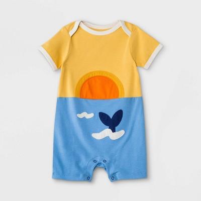 Baby Boys' Sunset Romper - Cat & Jack™ Mustard