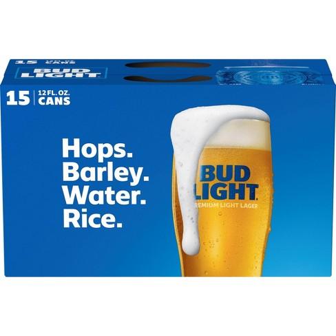 Bud Light Beer - 15pk/12 fl oz Cans - image 1 of 1