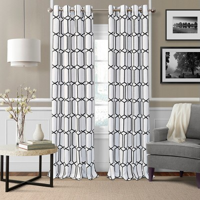 Kaiden Rustic Vogue Geometric Room Darkening Window Curtain Panel - Elrene Home Fashions