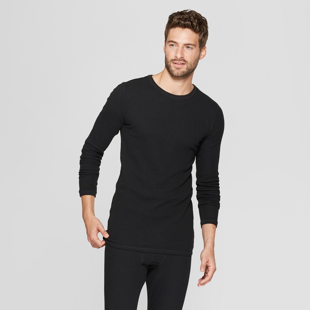 Men's Long Sleeve Thermal Undershirt - Goodfellow & Co Black S