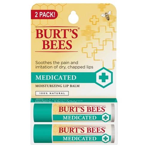 Burt's Bees Lip Balm - Medicated with Menthol & Eucalyptus - 0.15oz/2pk - image 1 of 4