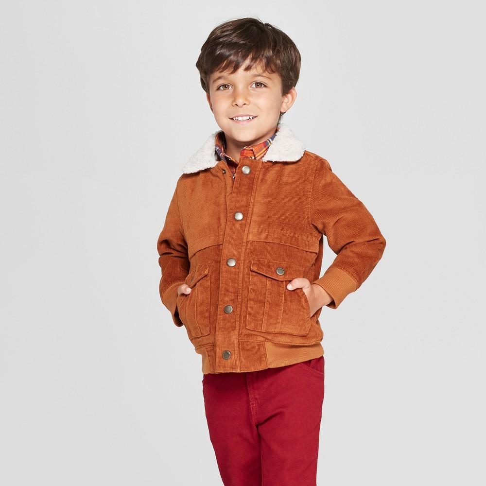 Genuine Kids from OshKosh Toddler Boys' Flight Jacket - Brown 18M