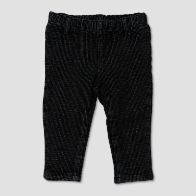 Baby Girls' Afton Street Washed Knit Denim - Black 3-6M