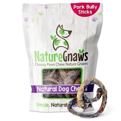 Nature Gnaws Porky Pretzel Jerky Dog Treats - 15ct