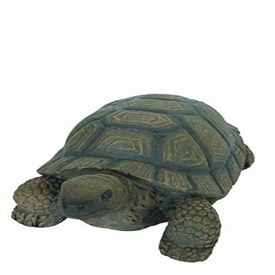"""4"""" Polyresin Small Crawling Turtle Outdoor Statue Green - Hi-Line Gift"""
