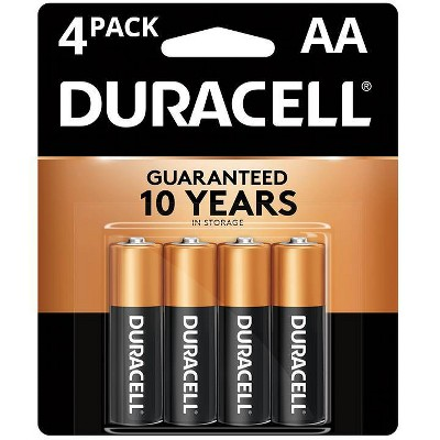 Duracell Coppertop AA Batteries - 4 Pack Alkaline Battery