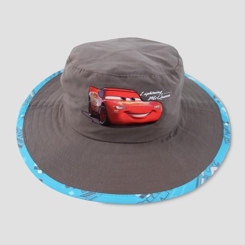 premium selection 0cd7b 4aa02 Toddler Boys  Disney Cars Lightning McQueen Safari Sun Hat - Gray One Size    Target
