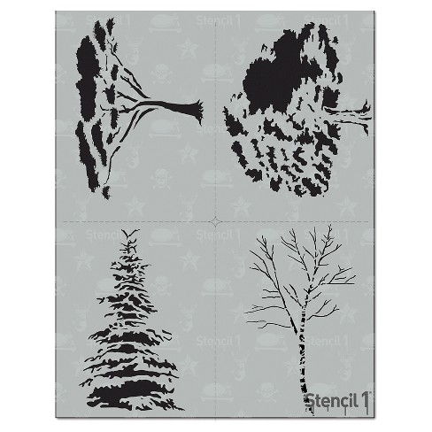 "Stencil1® Tree Multipack 4ct - Stencil 8.5"" x 11"" - image 1 of 3"