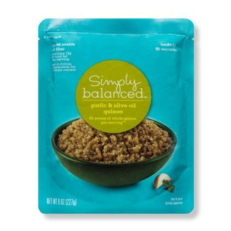 Garlic & Olive Oil Quinoa Microwaveable Pouch 8oz - Simply Balanced™