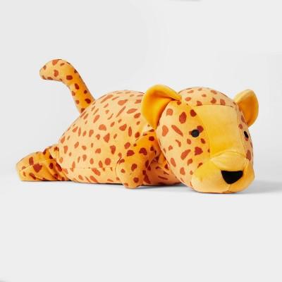 Cheetah Weighted Plush Throw Pillow - Pillowfort™