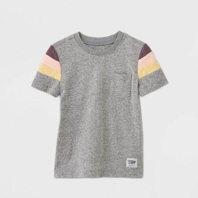 OshKosh B'gosh Toddler Boys' Short Sleeve Knit T-Shirt - Gray 18M