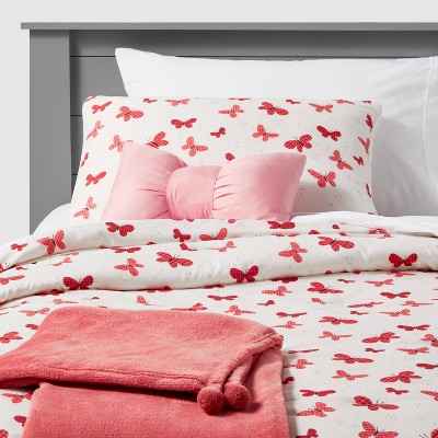 Butterfly Value Bedding Set Gingham Rose - Pillowfort™