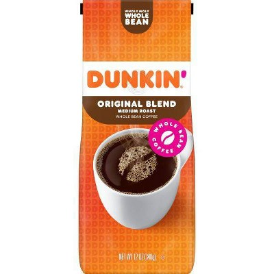 Dunkin' Donuts Original Blend Medium Roast Whole Bean Coffee - 12oz