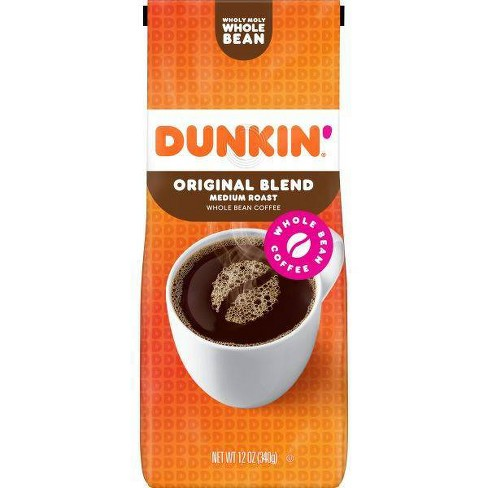 Dunkin' Original Blend Whole Bean Coffee Medium Roast - 12oz - image 1 of 4