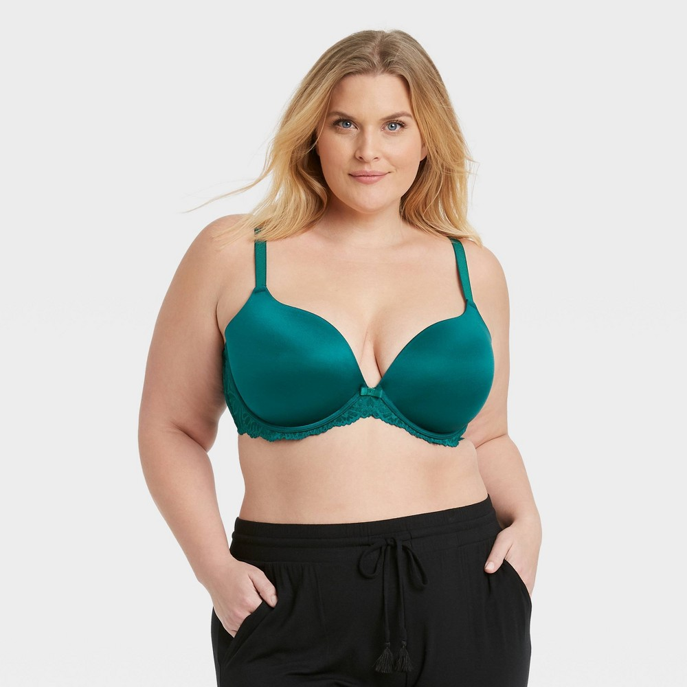 Women 39 S Plus Size Sublime Smooth Lace Plunge Push Up Bra Auden 8482 Teal 44d