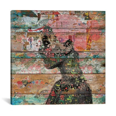 Inner Nature Profile of Woman by Diego Tirigall Unframed Wall Canvas Print Antique Wood - iCanvas