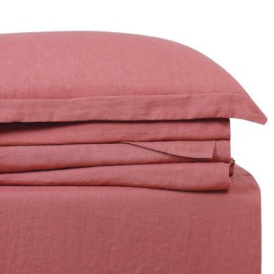 300 Thread Count Linen Solid Sheet Set - Brooklyn Loom