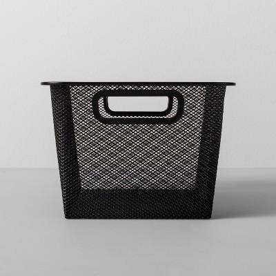Metal Shoe Bin 9 W X 13 D X 6.25 H - Black - Made By Design™