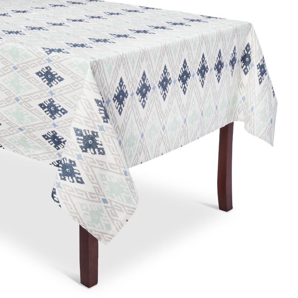 Blue Damask Tablecloth (60x120) - Threshold