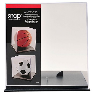 "10.9"" Shadow Box Basketball Display Case Clear - Snap"