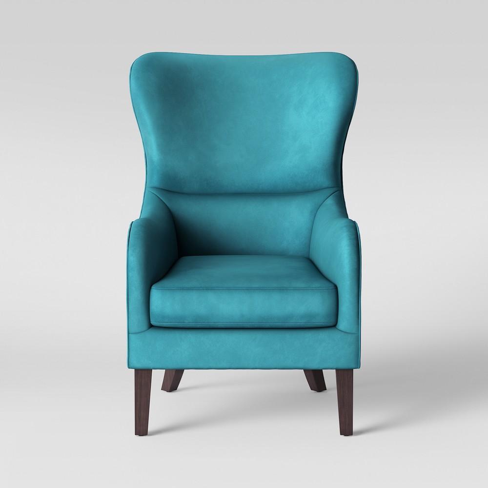 Torenia Wingback Chair Velvet Teal - Opalhouse, Blue