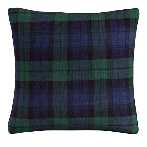 Blue Plaid Throw Pillow - Skyline Furniture - image 1 of 4