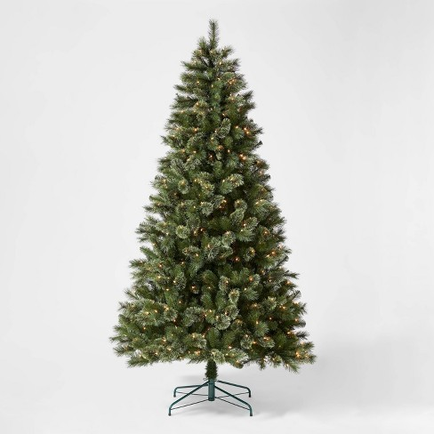 7.5ft Pre-lit Artificial Christmas Tree Full Virginia Pine Clear Lights with AutoConnect - Wondershop™ - image 1 of 4