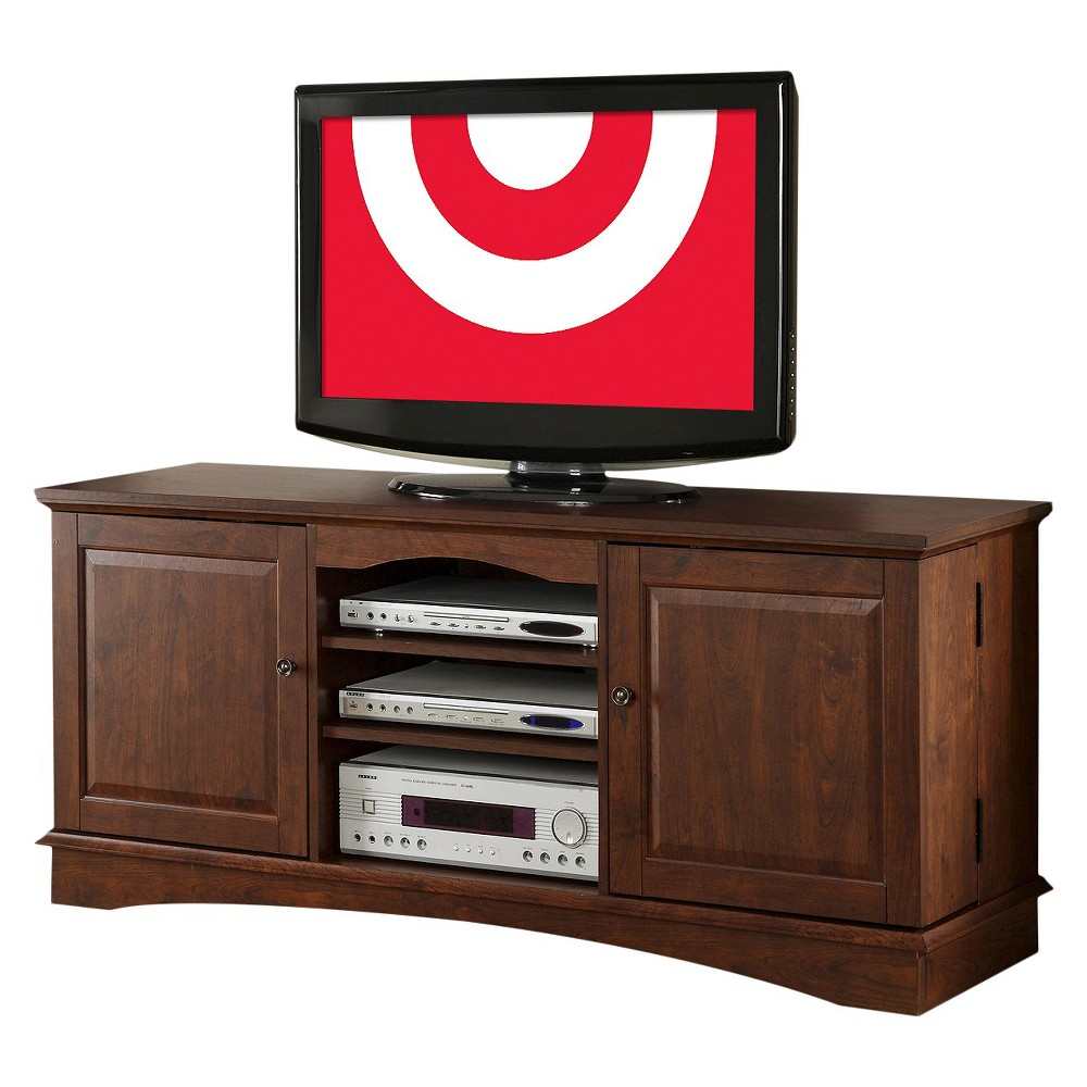 60 Wood TV Media Stand Storage Console - Brown - Saracina Home