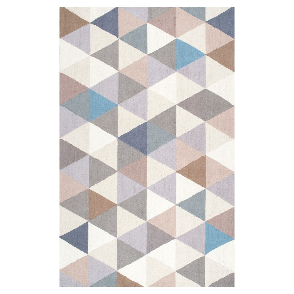 nuLOOM 100% Wool Hand Hooked Anderson Area Rug - Gray (5' x 8')