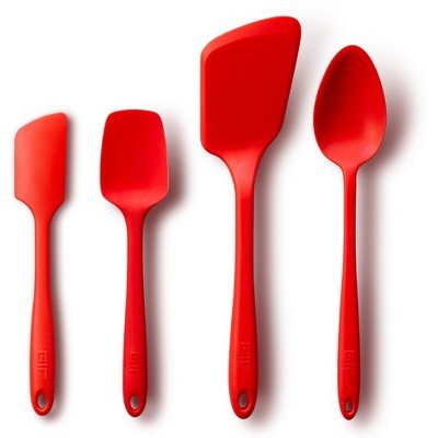 GIR Ultimate Silicone Kitchen Tool 4pc Set Red