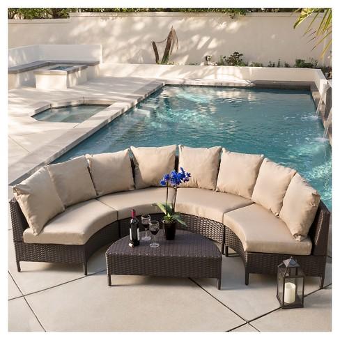 Newton 5pc Wicker Patio Lounge Set- Brown - Christopher Knight Home : Target - Newton 5pc Wicker Patio Lounge Set- Brown - Christopher Knight Home