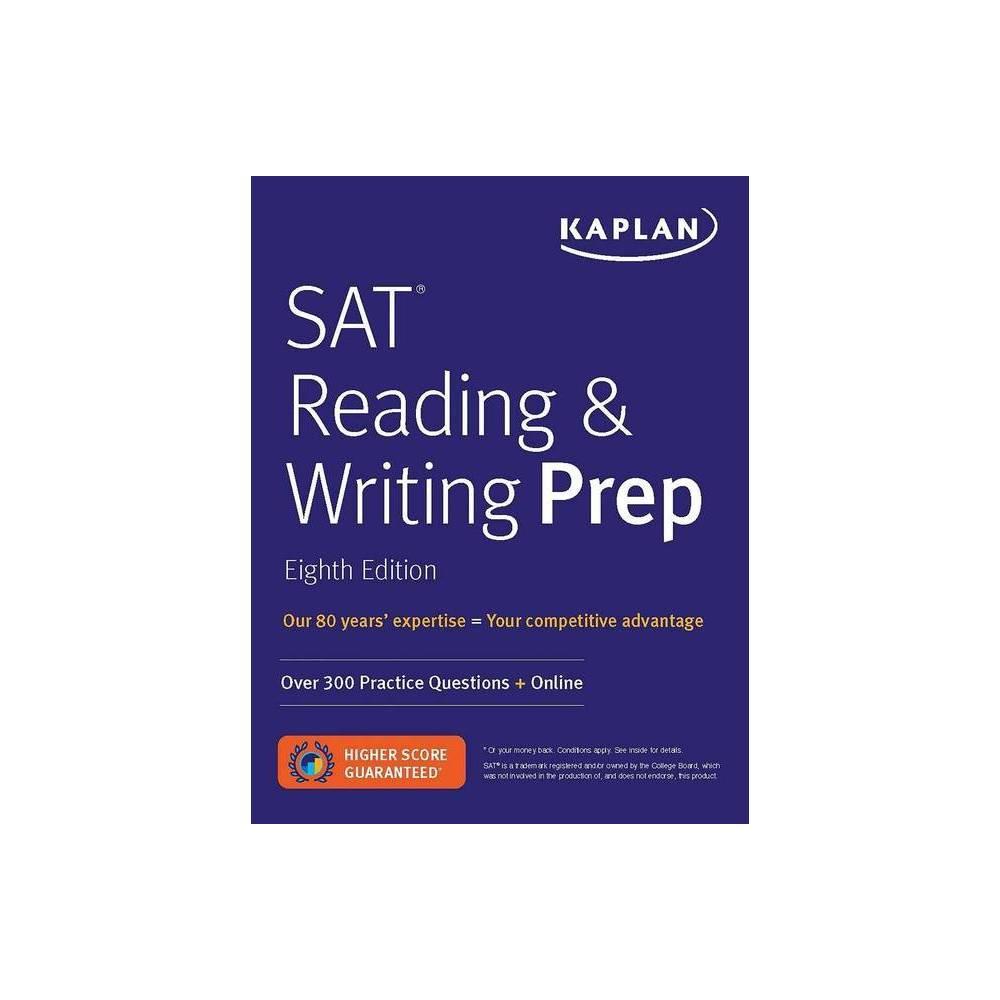 Sat Reading Writing Prep Kaplan Test Prep 8th Edition Paperback